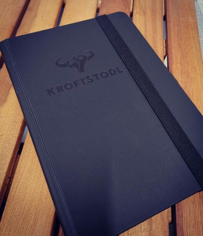 kroftstodl notizbuch